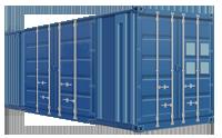20-ти футовый контейнер с боковыми дверями