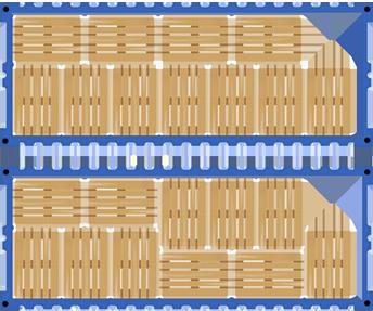 Схема размещения европаллет в 20-ти футовом контейнере
