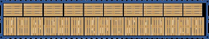 Схема размещения европаллет в 40-ка футовом контейнере