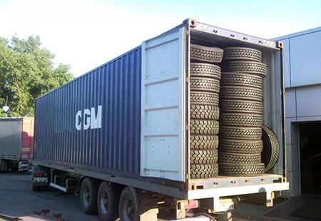 Перевозка шин в контейнерах